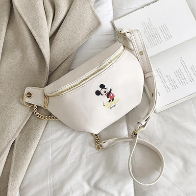 Fashion Mickey Leather Fanny Pack *New Released 1928Mickey White