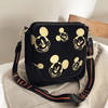 Mickey Mouse Classic Edition Leather Messenger Crossbody Bag Crossbody Bag 1928Mickey Black