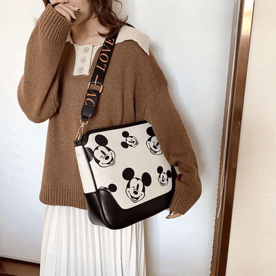 Mickey Mouse Classic Edition Leather Messenger Crossbody Bag Crossbody Bag 1928Mickey
