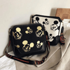 Mickey Mouse Classic Edition Leather Messenger Crossbody Bag Crossbody Bag 1928Mickey White & Black