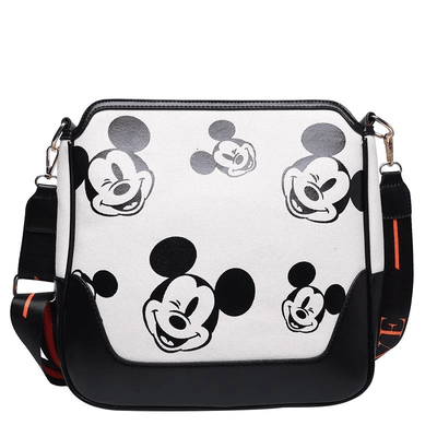 Mickey Mouse Classic Edition Leather Messenger Crossbody Bag Crossbody Bag 1928Mickey White