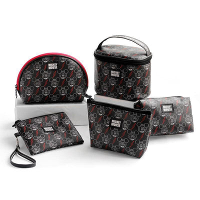 Genuine Mickey Mouse Makeup-Bag, Storage Bag -Black 1928Mickey ALL(5pcs)