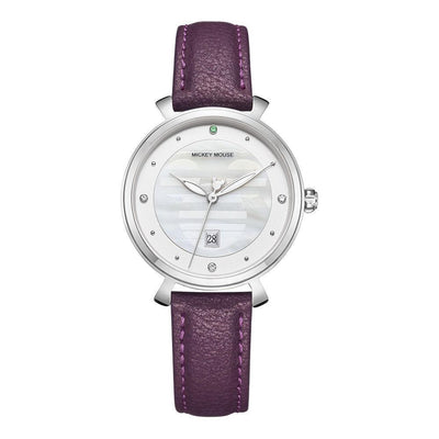 Mickey Mouse Leather Watch - Adults watch 1928Mickey PURPLE