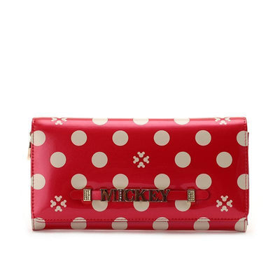 Mickey Polka Dot long wallet Wallets 1928Mickey Red