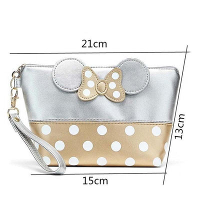 Portable Cute Mouse Waterproof Travel Cosmetic Bags Bag set 1928Mickey SILVER