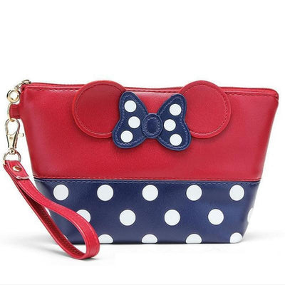 Portable Cute Mouse Waterproof Travel Cosmetic Bags Bag set 1928Mickey RED