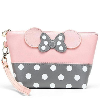 Portable Cute Mouse Waterproof Travel Cosmetic Bags Bag set 1928Mickey PINK