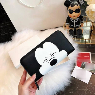 Mickey Style Cowhide Leather Purse *Limited Edition - Wallets - 1928Mickey
