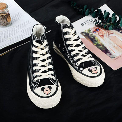 Mickey & Minnie Cute High-Quality Canvas Shoes - shoes - 1928Mickey