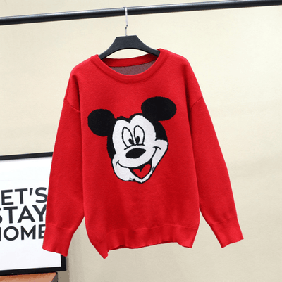 New Mickey Mouse Red Sweater Clothing 1928Mickey