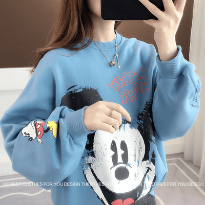 Fashion Mickey Mouse Cotton Chothes 1928Mickey Blue Free Size
