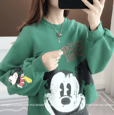 Fashion Mickey Mouse Cotton Chothes 1928Mickey Green Free Size