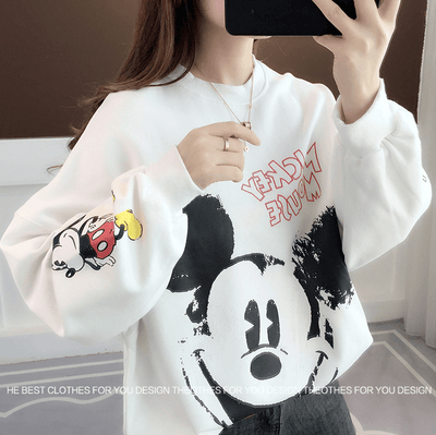 Fashion Mickey Mouse Cotton Chothes 1928Mickey White Free Size