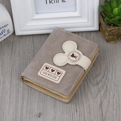 Cute Mouse Classic Leather Wallet Wallets 1928Mickey Gray