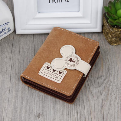 Cute Mouse Classic Leather Wallet Wallets 1928Mickey Brown