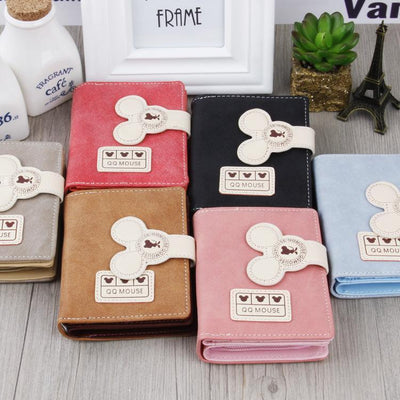 Cute Mouse Classic Leather Wallet Wallets 1928Mickey