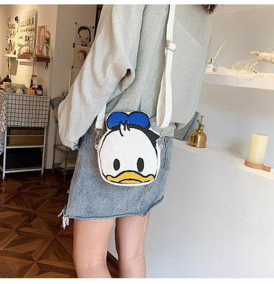 Summer Cartoon Minnie Mouse & Donald Duck Crossbody Bag 1928Mickey