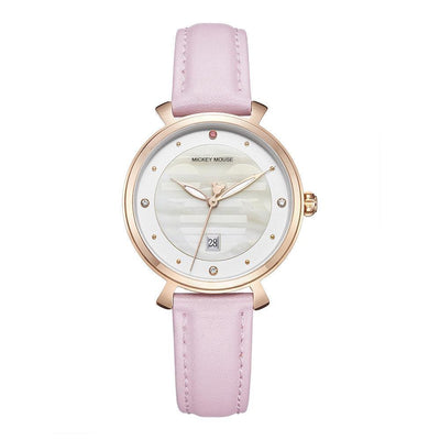 Mickey Mouse Leather Watch - Adults watch 1928Mickey PINK