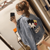 Women's Mickey Mouse Print Denim Jacket C Clothing 1928Mickey