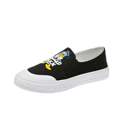 Donald Duck Summer Canvas Shoes 1928Mickey Black 5.5