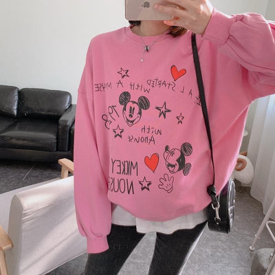 Fashion Mickey Mouse Cotton Chothes C 1928Mickey Pink Free Size
