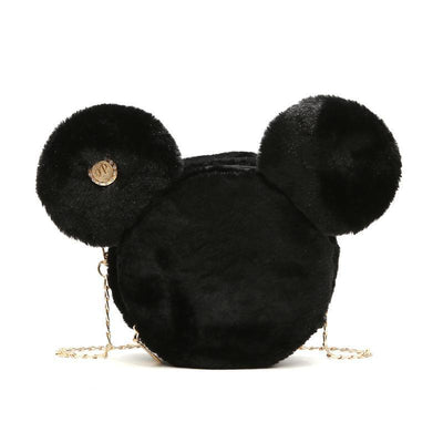 Cute Mickey Minnie Mouse Ear Handbags Crossbody Bag 1928Mickey Black