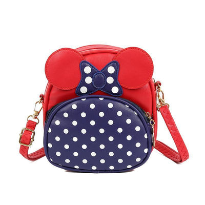 Cute Minnie Style Crossbody Bag For Kids 1928Mickey Red