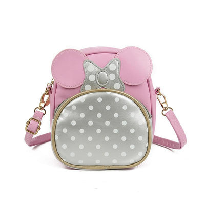 Cute Minnie Style Crossbody Bag For Kids 1928Mickey Pink