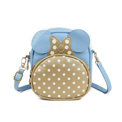Cute Minnie Style Crossbody Bag For Kids 1928Mickey Blue