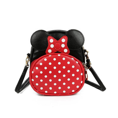 Cute Minnie Style Crossbody Bag For Kids 1928Mickey Black