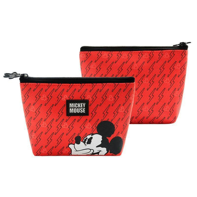 Genuine Mickey Mouse Makeup-Bag, Storage Bag -Red 1928Mickey A(1pc)