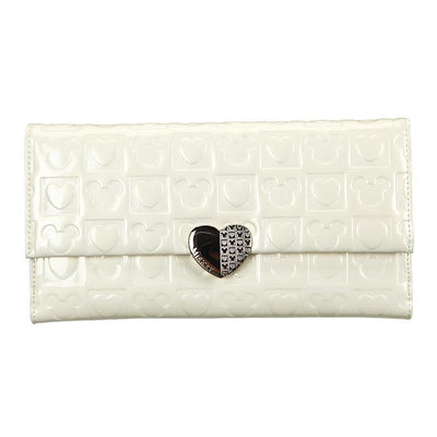 Mickey Mouse heart-shaped long wallet Wallets 1928Mickey WHITE