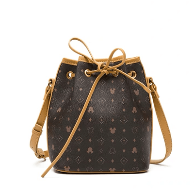 Mickey Classic Leather Bucket Crossbody Bag Crossbody Bag 1928Mickey A
