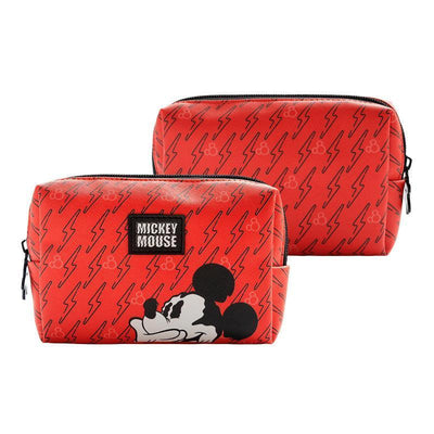 Genuine Mickey Mouse Makeup-Bag, Storage Bag -Red 1928Mickey B(1pc)