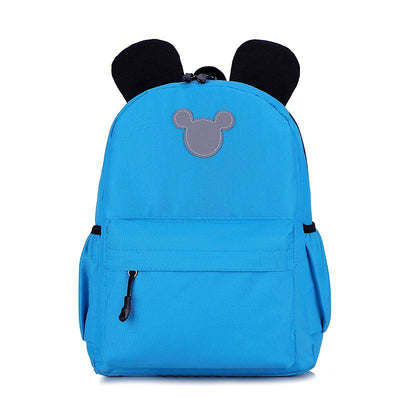 Cute 3M Reflective Waterproof Mickey Style Backpack Backpack 1928Mickey Light Blue