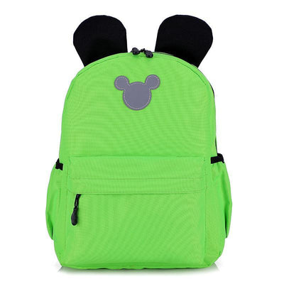 Cute 3M Reflective Waterproof Mickey Style Backpack Backpack 1928Mickey Green