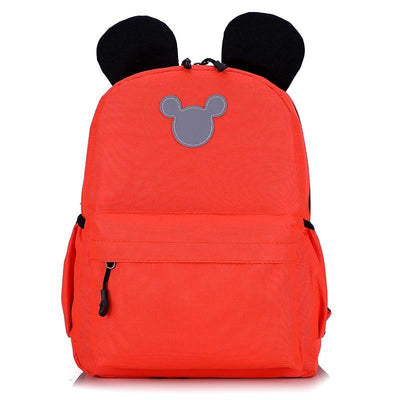 Cute 3M Reflective Waterproof Mickey Style Backpack Backpack 1928Mickey Orange