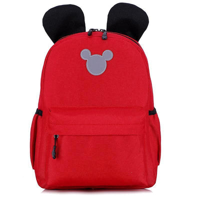 Cute 3M Reflective Waterproof Mickey Style Backpack Backpack 1928Mickey Red