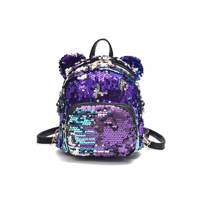Minnie Mouse Potion Sequined Mini Backpack Backpack 1928Mickey Purple