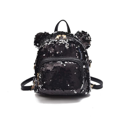 Minnie Mouse Potion Sequined Mini Backpack Backpack 1928Mickey Black