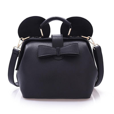 Fashion bow mini shoulder bag Crossbody Bag 1928Mickey Black