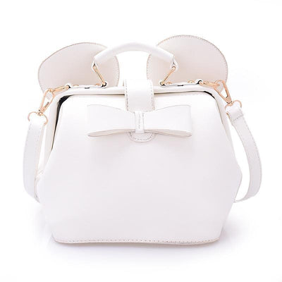 Fashion bow mini shoulder bag Crossbody Bag 1928Mickey White