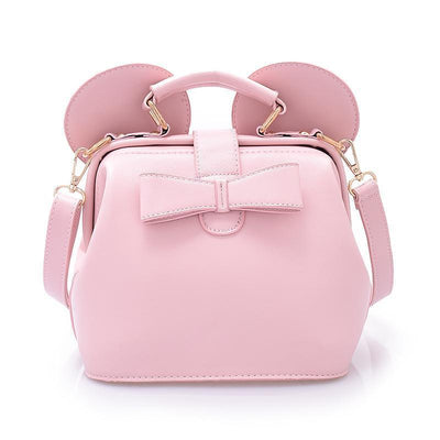 Fashion bow mini shoulder bag Crossbody Bag 1928Mickey Pink