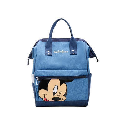 Fashion Mickey Mouse Waterproof Large Capacity Backpack *3 Colors Option Backpack 1928Mickey Blue