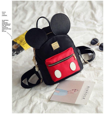 Cute Mickey Mouse Style High-Quality Ear Backpack For Girls Backpack 1928Mickey