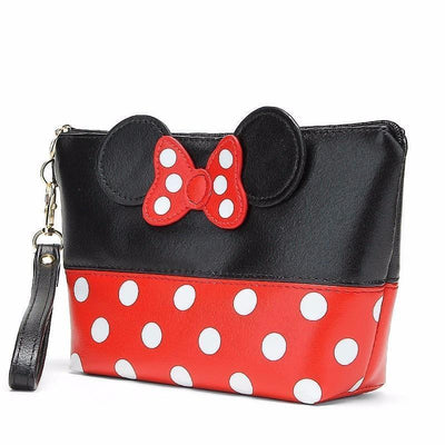 Portable Cute Mouse Waterproof Travel Cosmetic Bags Bag set 1928Mickey BLACK