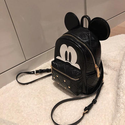 Mickey Mouse Leather Rivet Backpack