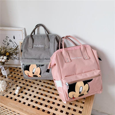 Fashion Mickey Mouse Waterproof Large Capacity Backpack *3 Colors Option Backpack 1928Mickey