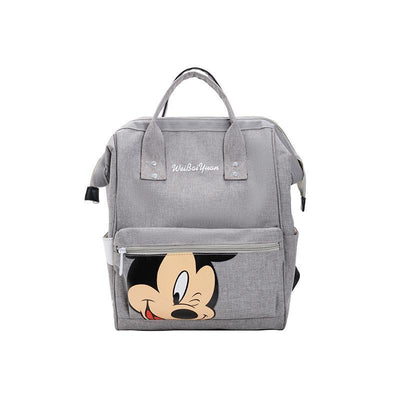 Fashion Mickey Mouse Waterproof Large Capacity Backpack *3 Colors Option Backpack 1928Mickey Gray