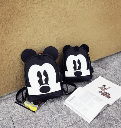 Mickey Mouse Style Leather Casual Backpack - Backpack - 1928Mickey